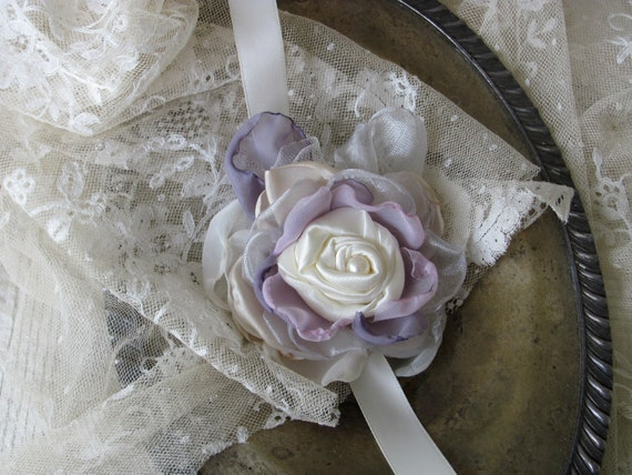 Wedding Wrist Corsage Made to order by My Broken Art on Etsy