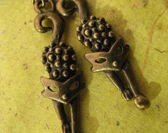 Cat Earrings, Antique Bronze Cute Kitty Cat  Kitten Earrings