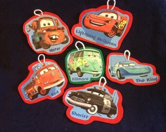 Cars Christmas Ornament Set of 6 (not a licensed product)