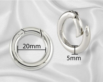 "2pcs - 3/4"" Gate-Ring- Nickel - Free Shipping (GATE RING GRG-100)"