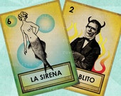 LOTERIA CARDS Part 1 Digital Collage Sheet 2.5x3.5in Printable Cards - no. 0054