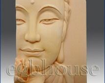 2D Silicone Soap Mold - Buddha Closeup w/Lotus  -Buy from Original Designer - Say no to copy cats