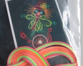 Neon Clown Paper Quilling Kit