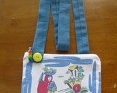 Funky and Fun Cotton Mexico Scene Purse
