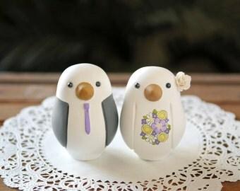 Wedding Cake Topper - Love Bird Cake Topper - Medium