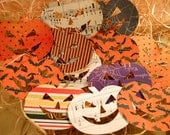 12 Happy Little Pumplins Large Die Cuts For Layouts, Collages, Journals, Mini Albums, or Halloween Decorating