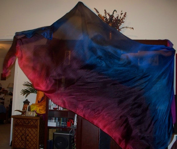 "Sahariah's Silk Belly Dance Veil Rectangle ""original"" 3 Yard Tribal Killer Silk Veil"