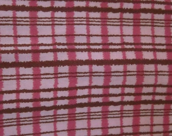 Cotton Quilting Fabric | Amy Butler fabric | Gypsy Caravan Pink Brown Plaid