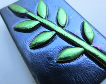 Fern leaf botanical pin brooch