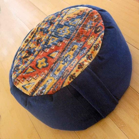 Denim Southwestern Meditation Cushion FREE USA Shipping