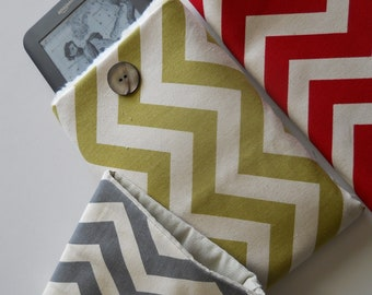 CLOSEOUT, Kindle2 or Nook or others.  Grey, Red, or black chevron and other colors.