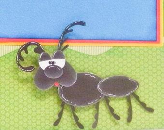 Ant paper piecing pattern, PDF Pattern, Scrapbooking Pattern