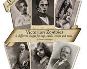 Victorian Zombies - INSTANT Printable Digital Images to DOWNLOAD for Altered Art, tags, cards, and other creative projects - JPG Sheet
