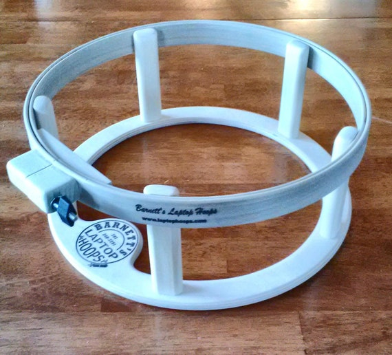 Barnetts Laptop Hoop Frame 16 in. Ring Lap Frame is perfect for hand quilting.