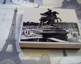 Place de la Concorde Paris wood mounted Rubber Stamp