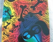 Dachshund With Bones Wiener Dog Doxie Of Many Colors Original Scratch Art Laminated