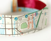 SALE Oriole Park, Baltimore Map Bracelet, Maryland, Baltimore Map Jewelry, Cuff, Baseball Stadium - Ready to Ship