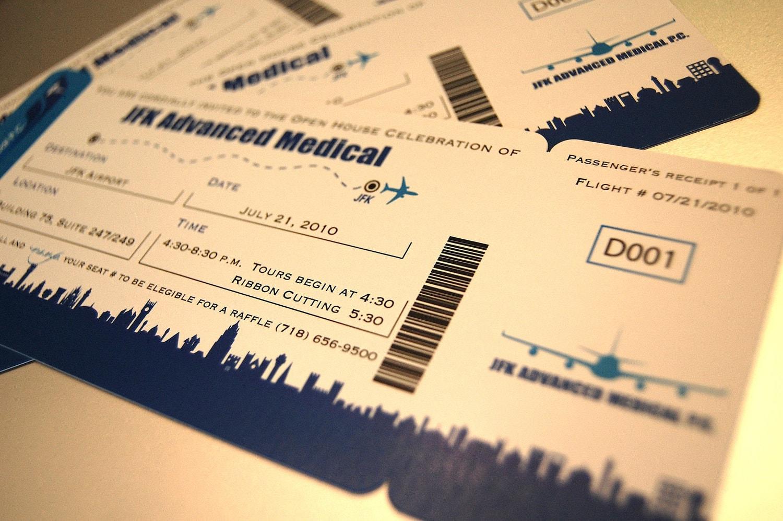 anaderoux: Airline Ticket Invitations - Boarding Pass JFK ...