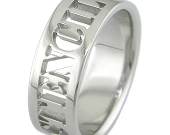 Stencil: Custom Laser Cut Titanium Ring