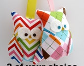 Owl Ornament Party Favor/ 2 of your choice