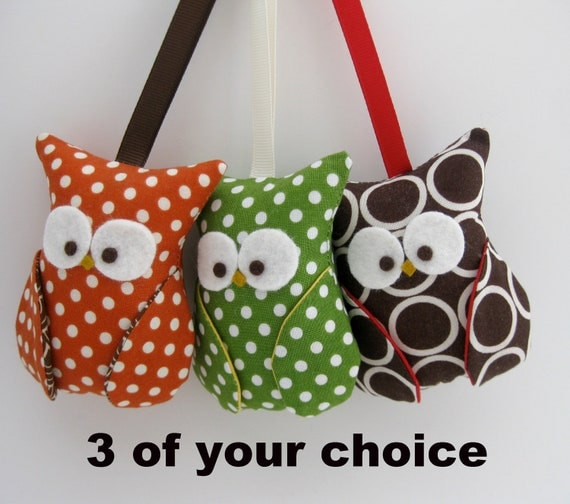 Owl Ornament Party Favor/ 3 of your choice