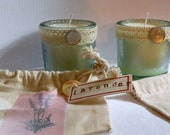 Scented Soy Candle In Recycled Glass Tumbler With Muslin Drawstring Gift Bag