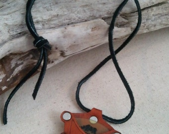 Guitar pick holster keychain or necklace