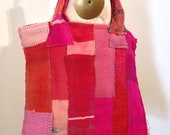 Handwoven Pink Tote Bag
