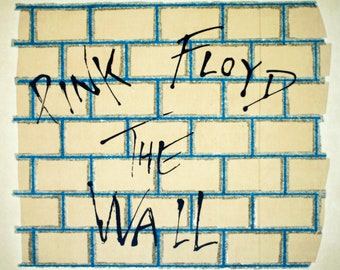 Vintage PINK FLOYD The Wall iron on t-shirt transfer