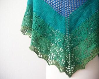 Knitting Pattern PDF / The Tehachapi Project One Skein Shawl