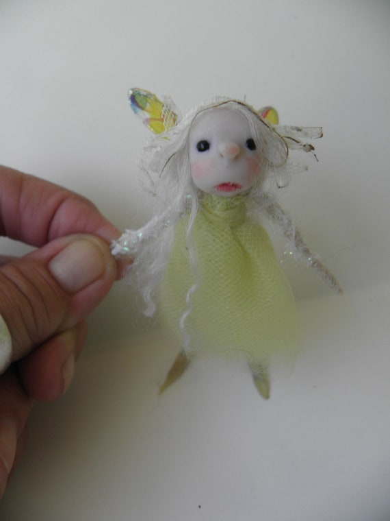 tiny OOAK pose-able fairy ART DOLL by DinkyDarlings ( 06 )