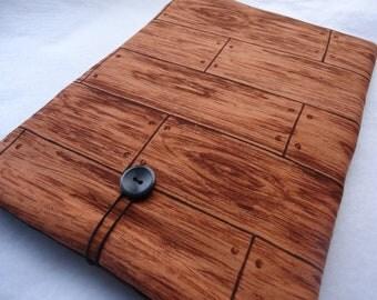 SALE  Ipad cover, Ipad case, Ipad sleeve, Designer padded I PAD case, Protect your electronics with this stylish case - Wood fabric