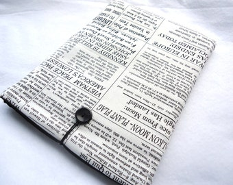 SALE  READY To SHIP Ipad cover, Ipad case, Ipad sleeve, Protect your electronics with this stylish case - News Paper Print