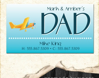 Customizable business card, personal card, or dad, daddy (mommy) card