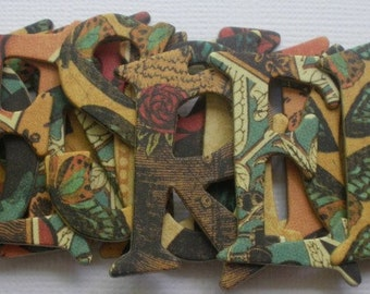 TiME FLiES  STEAMPUNK  - Chipboard Alphabets and Frame Die Cuts -  1.5 inch Letters