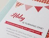 Picnic Party - Printable Birthday Party Invitation