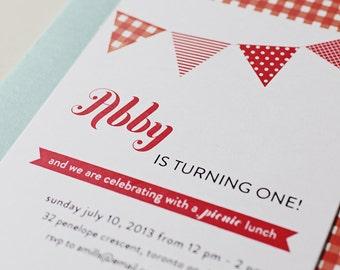 Picnic Party Invitation / Printable Birthday Party Invitation