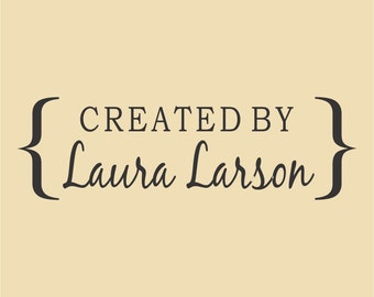 Created by Laura Larson Traditional Custom  Rubber Stamp Design R040