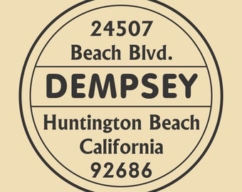 Dempsey Personalized Custom Rubber Stamp Design R039