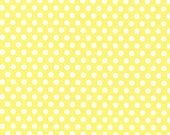 One (1) Yard - Kiss Dot Fabric by Michael Miller Fabrics CX5518-YELL-D - ShuShuStyle