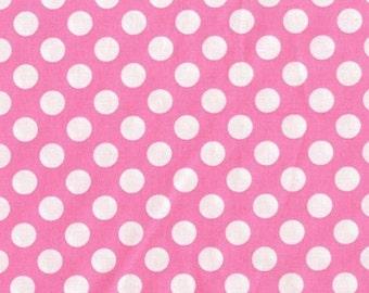 Fat Quarter - Ta Dot Candy Pink White By Michael Miller Fabrics CX1492-CAND-D