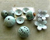 Torch-Fired Enamel Beads, Discs, and Flowers (005)