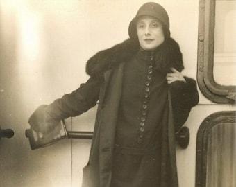 Vintage Art Deco Photograph Anna Pavlova Russian Ballet Dancer, cira 1920s