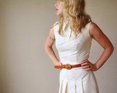 1960s Vanilla Pleat Dress