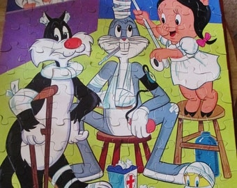 Complete 1979 Warner Brothers Looney Tunes Jigsaw Puzzle