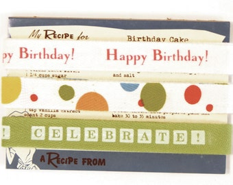Twill Tape Retro HAPPY BIRTHDAY by Moda 6 yards