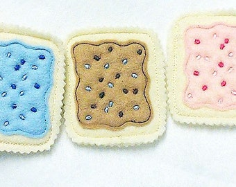 Poptarts - Pretend Felt Food for play kitchen - make believe play food for kids - gift for children - toys for kids #PF2508