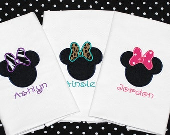 Custom girls Disney Minnie mickey mouse throw pillow case AUTOGRAPH PILLOW with name and