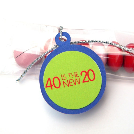 Items Similar To 40th Birthday Candy Treat Bag Favors