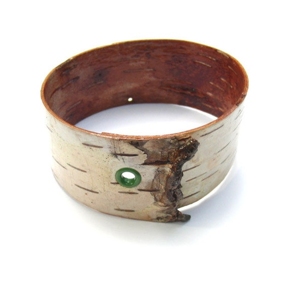 White birch bark bangle bracelet, Verge